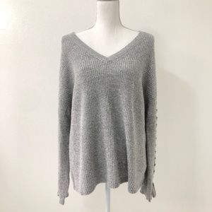 American Eagle Gray Side Lace Sweater Size Large